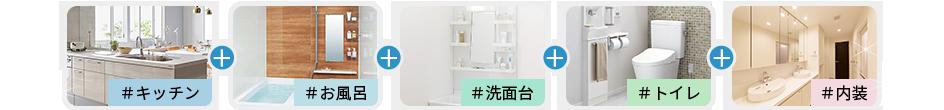 キッチン+お風呂+洗面台+トイレ+内装