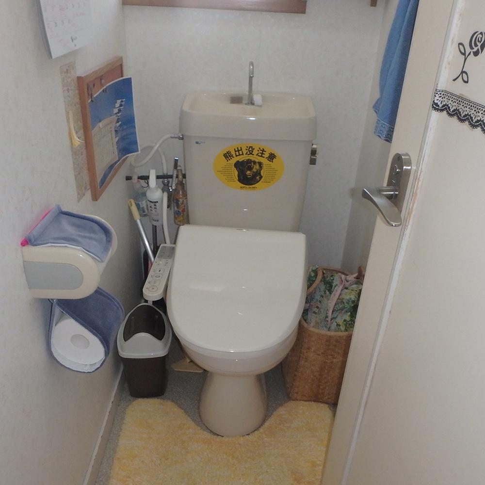 長く使われていたトイレは、水の使用量も多くなっていました。
