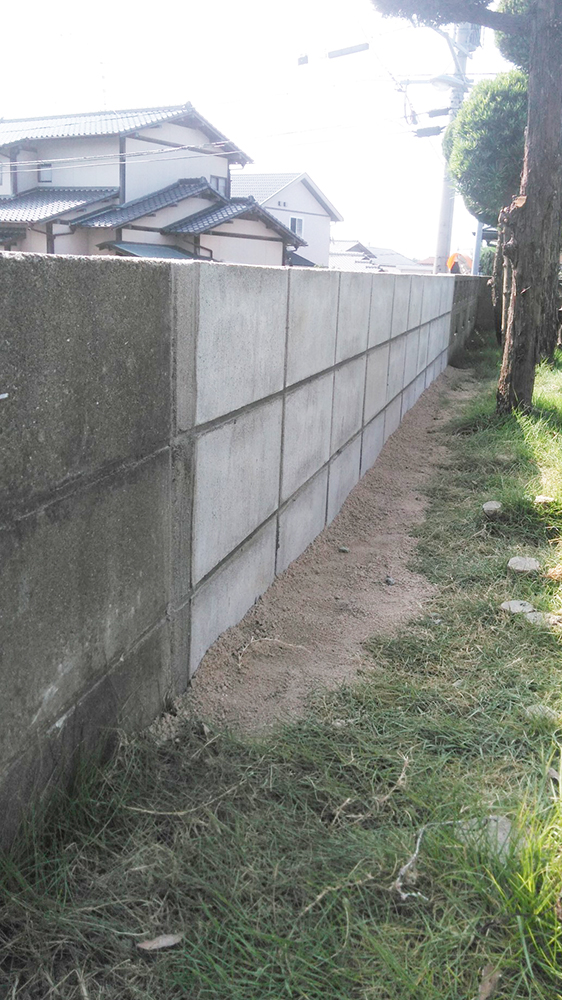 福岡市東区 I様邸 ブロック塀補修工事