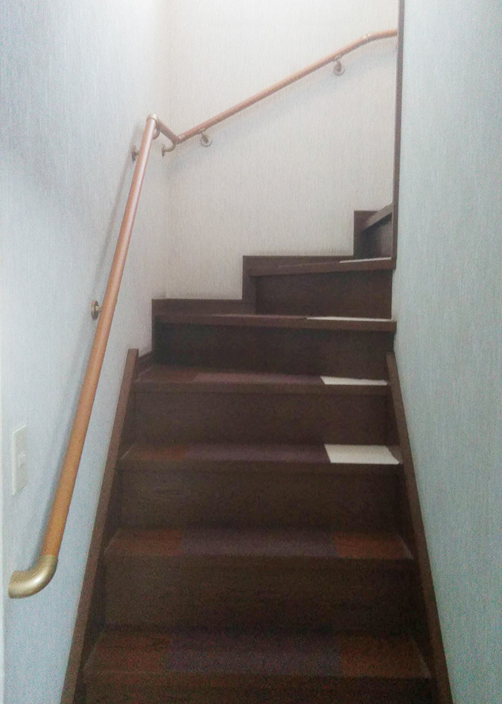 古賀市 A様邸 階段手すり取付工事