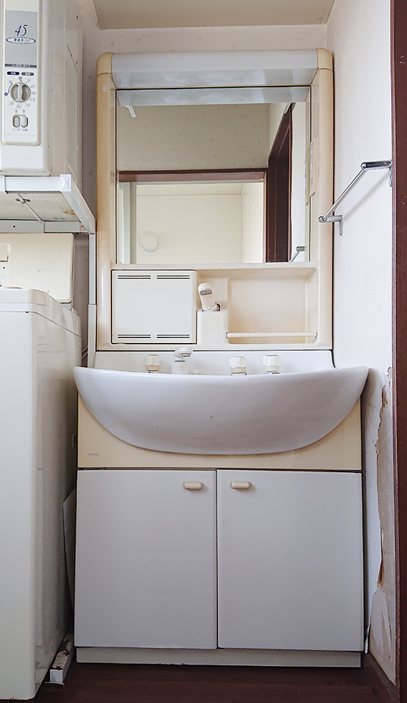 リフォーム前の洗面化粧台。