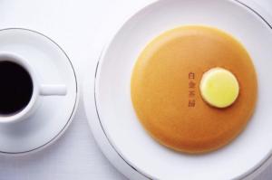 白金茶房のパンケーキ