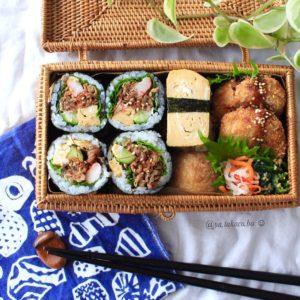 巻き寿司、手巻き寿司、おいなりさん♪